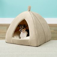Frisco Cat/Dog Tent Bed, Sandy Beige, Medium