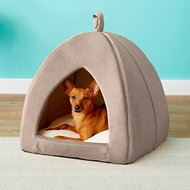 Frisco Tent Covered Cat & Dog Bed, Sandy Beige