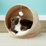 Frisco Foldable Canopy Cat Bed, Sandy Beige
