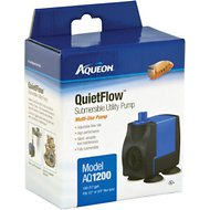 Aqueon Quietflow Submersible Aquarium Pump, Model AQ 1200