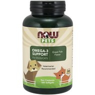 NOW Pets Omega-3 Support Dog & Cat Supplement, 180 count