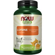 NOW Pets L-Lysine Immune System Support Cat Supplement, 8-oz jar