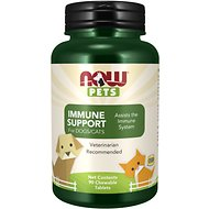 NOW Pets Immune Support Dog & Cat Supplement, 90 count