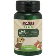 NOW Pets GI Support Dog & Cat Supplement, 90 count