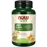 NOW Pets Pet Allergy Dog & Cat Supplement, 75 count