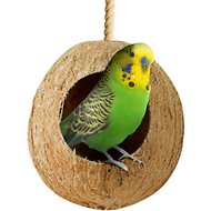 SunGrow Natural Coconut Shell Bird House, Small