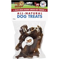 Pet 'n Shape USA Hickory Smoked Black Angus Small Beef Tendon Dog Treats, 10 count