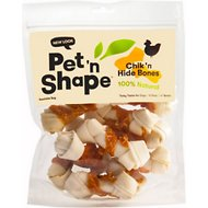 "Pet 'n Shape Chicken Hide Bones 4"" Dog Treats, 10 count"
