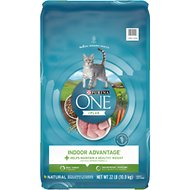 Purina ONE Indoor Advantage Adult Dry Cat Food, 22-lb bag