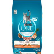 Purina ONE Tender Selects Blend with Real Chicken Dry Cat Food, 22-lb bag