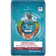 Purina ONE Urinary Tract Health Adult Formula Dry Cat Food, 22-lb bag