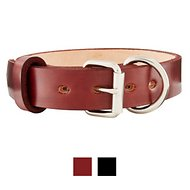 BlackJacks Leather Large Breeds Dog Collar, Mahogany, 16-19 in, 2-in