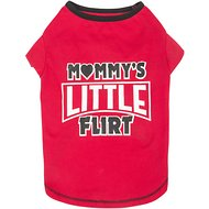 SimplyWag Mommy's Little Flirt Dog T-Shirt, Small