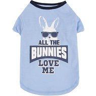 SimplyWag All The Bunnies Love Me Dog T-Shirt, Small