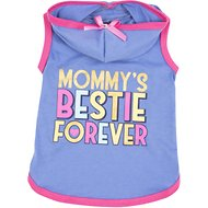Smoochie Pooch Mommy's Bestie Forever Dog T-Shirt, X-Small