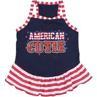 SimplyWag American Cutie Strappy Dog Dress, Large