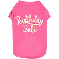 SimplyWag Birthday Babe Dog T-Shirt, Medium