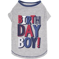 SimplyWag Birthday Boy Dog T-Shirt, Medium