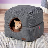 Smiling Paws Pets 2-in-1 Cat Cube & Bed