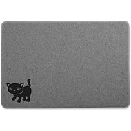 Smiling Paws Pets Cat Litter Mat, Gray, X-Large