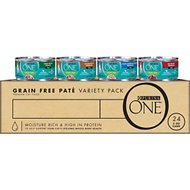Purina ONE Grain-Free Variety Pack Canned Cat Food, 3-oz, case of 24