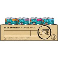 Purina ONE True Instinct 4 Flavors Variety Pack Canned Cat Food, 3-oz, case of 24