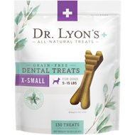 Dr. Lyon's Grain-Free Extra-Small Breed Dental Dog Treats, 130 count