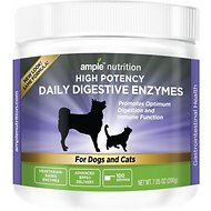 Ample Nutrition High Potency Daily Digestive Enzymes Dog & Cat Supplement, 7.05-oz jar