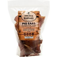 Brutus & Barnaby Pig Ears Dog Treats, 12-count