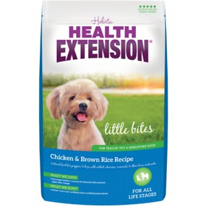 Health Extension Little Bites Chicken & Brown Rice Recipe Dry Dog Food, 1-lb bag