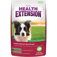 Health Extension Lamb & Brown Rice Dry Dog Food, 1-lb bag