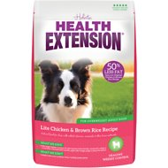 Health Extension Lite Chicken & Brown Rice Recipe Dry Dog Food, 1-lb bag