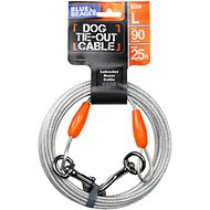 BV Pet Tie-Out Dog Cable, Large, 25-ft