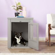 New Age Pet ecoFLEX Crate & End Table, Grey, Large