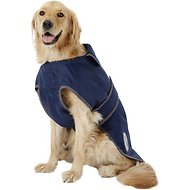 WeatherBeeta Windbreaker Navy 420D Deluxe Dog Coat, 24-in
