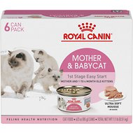 Royal Canin Mother & Babycat Ultra-Soft Mousse Canned Food for New Kittens, Nursing & Pregnant Mother Cats, 3-oz, pack of 6