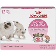 Royal Canin Mother & Babycat Ultra-Soft Mousse Canned Food for New Kittens, Nursing & Pregnant Mother Cats, 3-oz, pack of 12