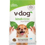 V-Dog Kinder Kibble Mini Bites Vegan Adult Dry Dog Food, 4.5-lb bag