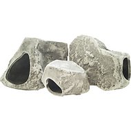 Underwater Galleries Assorted Cichlid Aquarium Stone Caves, 3 count box