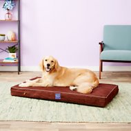 LaiFug Orthopedic Memory Foam Dog Bed with Water Proof Liner & Removable Washable Cover, Chocolate, Large