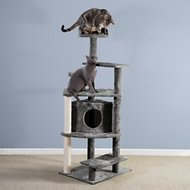 FurHaven 59.8-Inch Tiger Tough Platform House Cat Tree, Gray