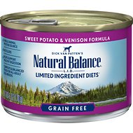 Natural Balance L.I.D. Limited Ingredient Diets Sweet Potato & Venison Formula Grain-Free Canned Dog Food, 6-oz, case of 12