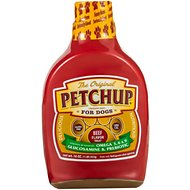 Petchup Beef Flavored Condiment Nutritional Supplement Dog Food Topper,16-oz bottle