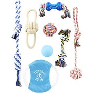 Otterly Pets Assorted Ropes, Flying Disc & Ball Dog Toys, 8-count