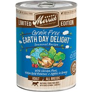 Merrick Limited Edition Grain-Free Earth Day Delight Adult Canned Dog Food, 12.7-oz, case of 12