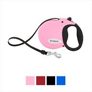 Frisco Reflective Tape Retractable Dog Leash, Pink, Medium
