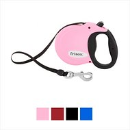 Frisco Reflective Tape Retractable Dog Leash, Pink, Large