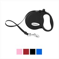 Frisco Reflective Tape Retractable Dog Leash, Black, X-Small