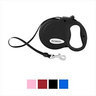 Frisco Nylon Tape Reflective Retractable Dog Leash, Black, Medium: 16-ft long, 7/16-in wide