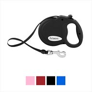 Frisco Reflective Tape Retractable Dog Leash, Black, Large